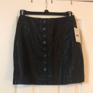 Free People Leather Skirt NWT Size 0